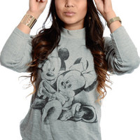 New Jack City Mickey and Minnie Mock Crewneck