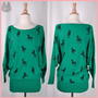 NEW FLYING TOMATO MYSTICAL UNICORN DOLMAN SLEEVES SWEATER TUNIC SZ S M L