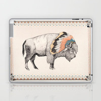 White Bison Laptop & iPad Skin by Sandra Dieckmann