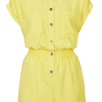 Casual Shirt Playsuit - New In This Week - New In - Topshop USA