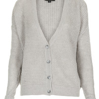 Knitted Textured Grunge Cardi - Knitwear - Clothing - Topshop USA