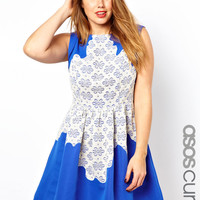 ASOS CURVE Exclusive Skater Dress With Lace