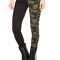 Royal Bones Camo Split Leg Skinny Jeans | Hot Topic