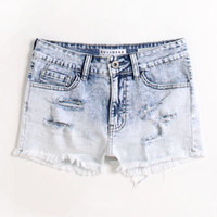 Bullhead Destroy High Rise Fray Hem Shorts at PacSun.com