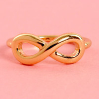 No Limits Gold Infinity Knuckle Ring