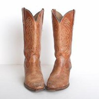 Size 10 Brown Frye Cowboy Boots 41 by twinheartsvintage on Etsy