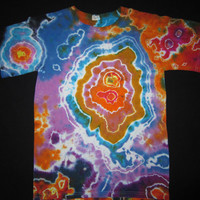 AS12 Psychedelic Geode Tie-Dye T-shirt, adult small