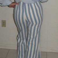 1970's Bell Bottom Pants with Stripes  Jeans