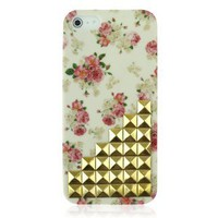 Hot Rivet Vintage Flower Case For iPhone 5