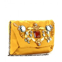 mytheresa.com -  Lanvin - CRYSTAL BEAD EMBELLISHED SATIN CLUTCH  - Luxury Fashion for Women / Designer clothing, shoes, bags