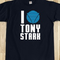 I Love Tony Stark Shirt - Celebritees - Skreened T-shirts, Organic Shirts, Hoodies, Kids Tees, Baby One-Pieces and Tote Bags
