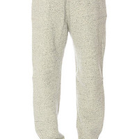 Crooks and Castles Sweatpants Sur Califas in Light Grey Speckle