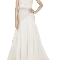 Lela Rose Pleated silk-gazar gown – 60% at THE OUTNET.COM