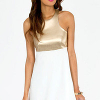 Racerfront Contrast Dress $30