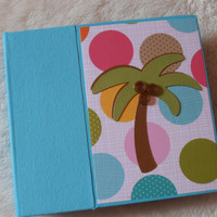 6x6 Tropical Beach Vacation Scrapbook Album by SimplyMemories