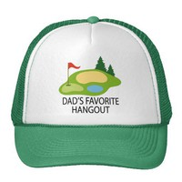 Funny Golfing Golf Course Dad's Hangout Gift Hats from Zazzle.com