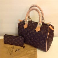 Louis Vuitton speedy 30 bag & wallet set