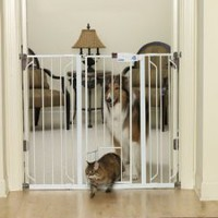 Amazon.com: Carlson 0941PW Extra-Tall Walk-Thru Gate with Pet Door, White: Pet Supplies