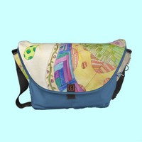 The Painted Quilt Messenger Bag from Zazzle.com