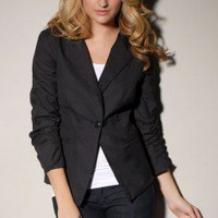 Gathered Sleeve Blazer by AKIRA