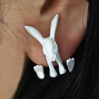 3D Neon Bunny Ear Stud (Single) | LilyFair Jewelry