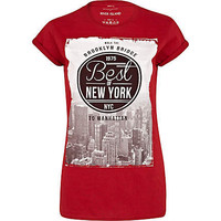 Red best of New York print t-shirt - print t-shirts / vests - t shirts / vests / sweats - women