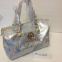 Michael kors silver monogram bag