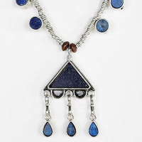 Triangle Lapis Necklace