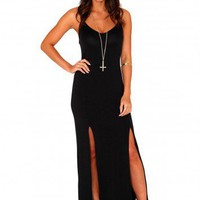Missguided - Ashlee Strappy Front Split Maxi Dress