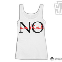 No New Friends Drake Womens Fitted Tank Top x Singlet 040