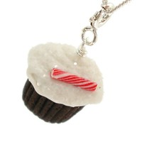 Peppermint Cupcake Necklace - Holiday Necklaces - Whimsical & Unique Gift Ideas for the Coolest Gift Givers