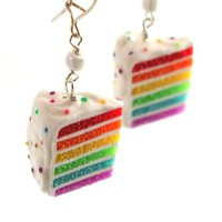 Rainbow Cake Earrings - Whimsical & Unique Gift Ideas for the Coolest Gift Givers