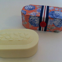 NEW CST Soap Sweet Apricot Luxurious Bath Soap in Cute Gift Case - 11 oz