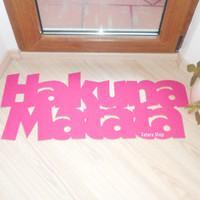 Hakuna Matata doormat. The Lion King. Custom door mat. Possitive message