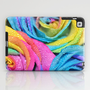 Rainbow Swirl iPad Case by Lisa Argyropoulos