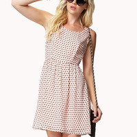 V-Back Heart Print Dress