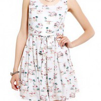 Patrons Of  Peace Flamingo Print Dress