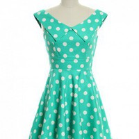 Mint Dotted Cutie Dress