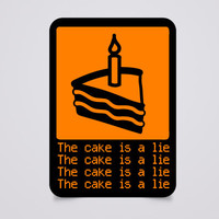 J!NX : The Cake is a Lie Sticker