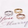 girlsluv.it - matt colored INFINITY-i love you ring, 3 colors