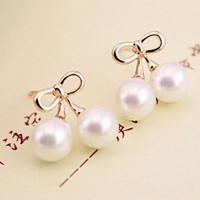 Cherry Pearl Ball Fashion Earrings | LilyFair Jewelry