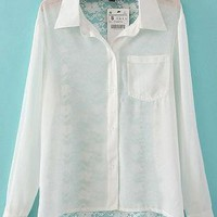 Chiffon Shirt with Sexy Lace for Summer