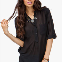 Single Pocket Chiffon Tunic