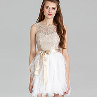 Teeze Me Lace Corkscrew Dress | Dillards.com