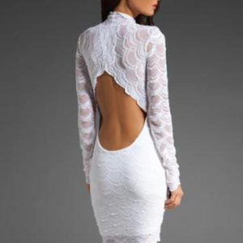 NIGHTCAP Victorian Lace Dress in White at Revolve Clothing