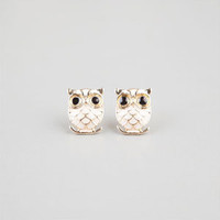 FULL TILT Epoxy Owl Earrings