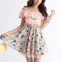 BEAUTIFUL FLORAL DESIGN DAY DRESS