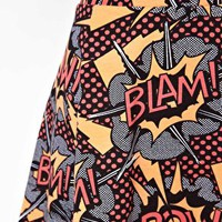 River Island Comic Print Skater Skirt at asos.com
