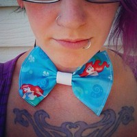 Ariel The little Mermaid hair headband or Bow Tie Baby photo prop