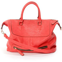 Juicy Details Coral Red Handbag